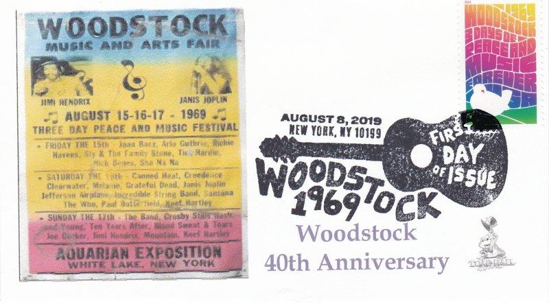 Woodstock 50th Anniversary FDC