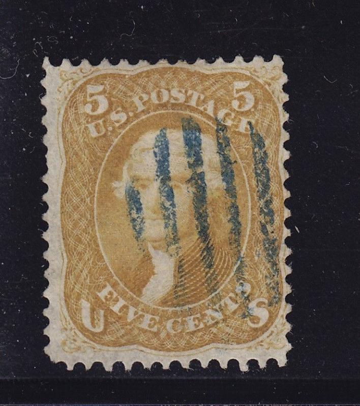 67 F-VF used Buff neat Blue grid cancel with nice color cv $ 850 ! see pic !