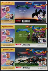 Australia 2608a,10a,12a Booklets Barcode 3 MNH Horse Racing Personalities