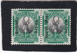 South West Africa,  #  85    unused  pair