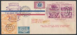 FIRST FLIGHT HINDENBURG ON #778 FDC COVER RARE W/ ONBOARD CANCEL BR5299