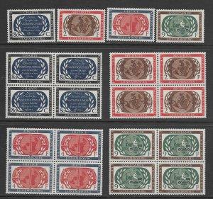 Luxembourg  366-93 MNH cpl set x 5, see desc. 2020 CV $55.00