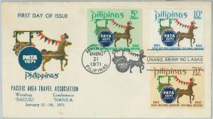74516 - Philippines  - POSTAL HISTORY - FDC  COVER  1971 Tourism TRANSPORT