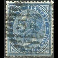 ITALY 1877 - Scott# 28 King 10c Used