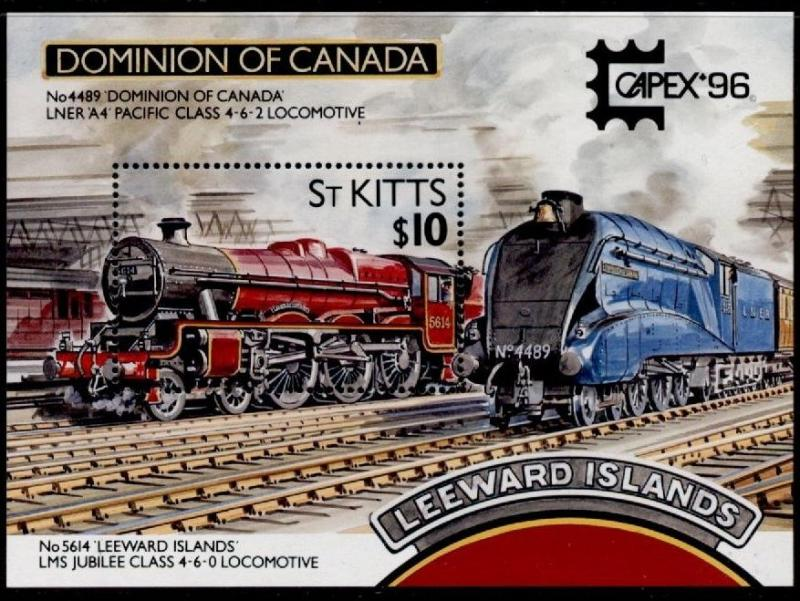 St Kitts 408 MNH Trains, Locomotives