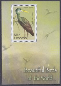 Lesotho MNH S/S 1406 Western Reef Heron 2007