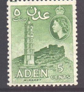 Aden Scott 48 - SG48, 1954 Elizabeth II 5c MH*