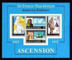 ASCENSION - 1972 - SHACKLETON - ANTARCTIC EXPLORER - QUEST - MINT - MNH S/SHEET!