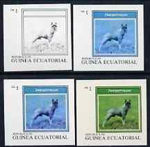 Equatorial Guinea 1977 Dogs EK1 (Zwergschnauzer) set of 4...