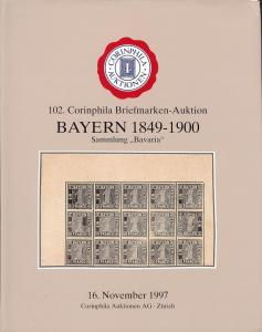 Corinphila: Sale # 102  -  The Bavarian Collection, Cor...