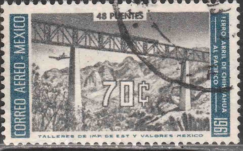 MEXICO C259, 70¢ OPENING Chihuahua-Pacific Railroad. USED. VF. (624)