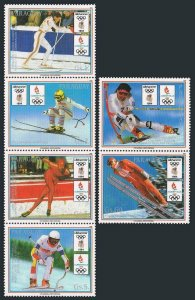 Paraguay 2272adstrip,2273.MNH. Winter Olympics, Lillehammer-1994, Athletes.