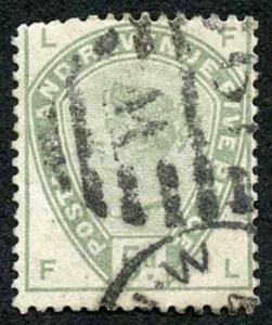 SG193 5d Dull Green Wmk Imperial Crown Fine Used cat 210 pounds