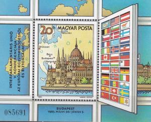 Hungary 1983 Scott 2783 Conference on European Cooperation Budapest FLAGS XF/NH.