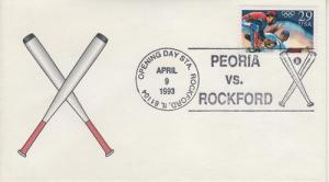 1993 Baseball Opening Day Peoria/Rockford Pictorial
