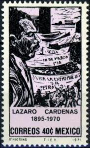 Mexico #1035 Pres. Lazaro Cardenas