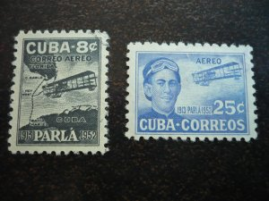 Stamps  - Cuba - Scott# C61-C62 - Used Set of 2 Air Mail Stamps