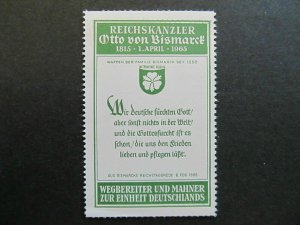 A4P5F64 Reklamemarke Otto von Bismark mnh**
