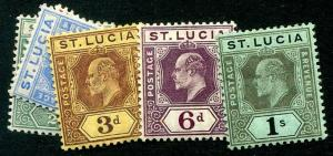 HERRICKSTAMP ST. LUCIA Sc.# 57-61 Mint Hinged Scott Retail $30.00