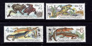 Czechoslovakia 2748-51 MNH 1989 W.W.F. set