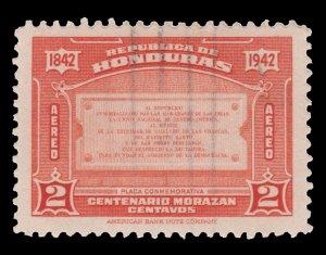 HONDURAS  AIRMAIL STAMP 1942  SCOTT # C120.