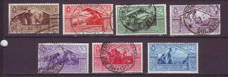 J16958 JLstamps 1930 italy used last stamp mh #248-54 designs