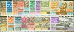 Virgin Islands 1970 set of 17 SG240-256 V.F MNH