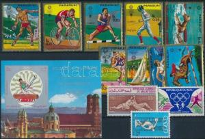 Thematic lot stamp Summer Olympics 1970-1971 5 country 1970 MNH WS184824