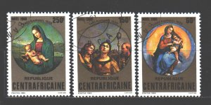 Central African Republic. 1980. 702-4. Christmas. USED.