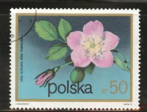 Poland Scott 1936 Used CTO 1972 Flowering shrub stamp