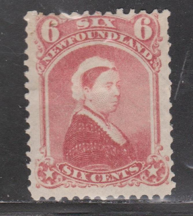 NEWFOUNDLAND Scott # 35 - Mint Hinged Early Queen Victoria Issue