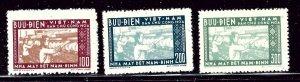 North Vietnam 51-53 No Gum As Issued 1957 set    (ap2970)