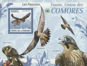Comoro Islands MNH S/S Falcons Birds 2009
