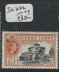 SIERRA  LEONE (PP3105B)  QEII  LI  SG 222   MOG