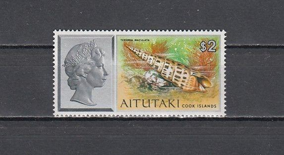 / Aitutaki, Scott cat. 94. Sea Shell Definitive value issue.