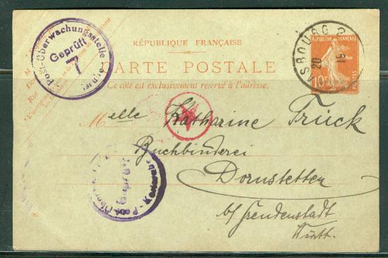 France H & G # 68, pse postal card, used, issued 1917