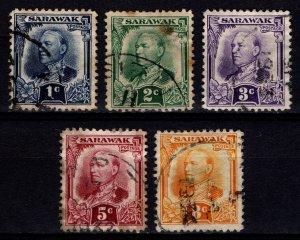 Sarawak 1932 Sir Charles Vyner Brooke Definitives, Part Set [Used]