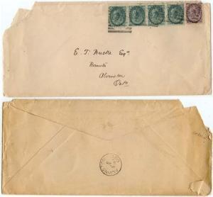 Canada - 1899 Triple Domestic Rate Cover Sq. Circles