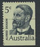 Australia  Sc# 451  Alfred Deakin  1969 Used  Booklet stamp see details