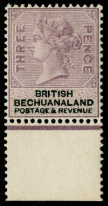 BECHUANALAND SG12a, 3d pale reddish lilac & black, NH MINT. Cat £80.