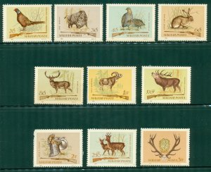 R4-0009 (2) HUNGARY 1626-35 MNH MAMMALS SCV $3.30 BIN $1.75 (12)