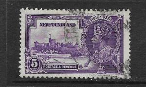 NEWFOUNDLAND, 227, USED, SILVER JUBILEE ISSUE