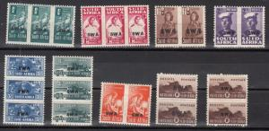 South West Africa Scott 144-52 Mint hinged (Catalog Value $49.50)