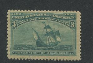 1893 US Stamp #232 3c Mint Never Hinged Very Fine Catalogue Value $210