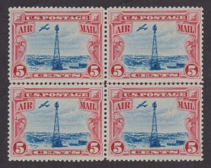 C11 Beacon on Rocky Mountains VF MNH Center Line Block of 4
