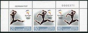 Georgia 246 ac strip,MNH. Olympics Sydney 2000.Runner.