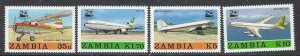 Zambia 397-400 MNH 1987 Airplanes (ap7273)