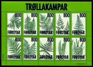 Faroe Islands - 2008 -Ferns  sheet MNH # 505