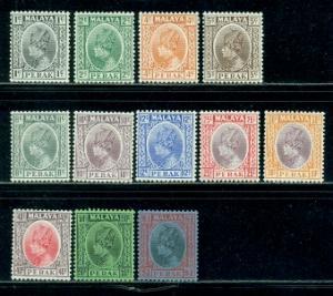 Malaya-Perak #69//83  MNH & Mint  Scott $47.55