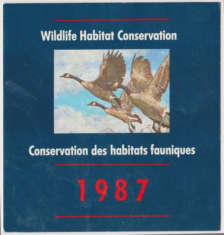 Canada - USC #FWH3 - 1987 $6.50 Canada Geese Complt Booklt - Mint VF-NH Cat.$25.
